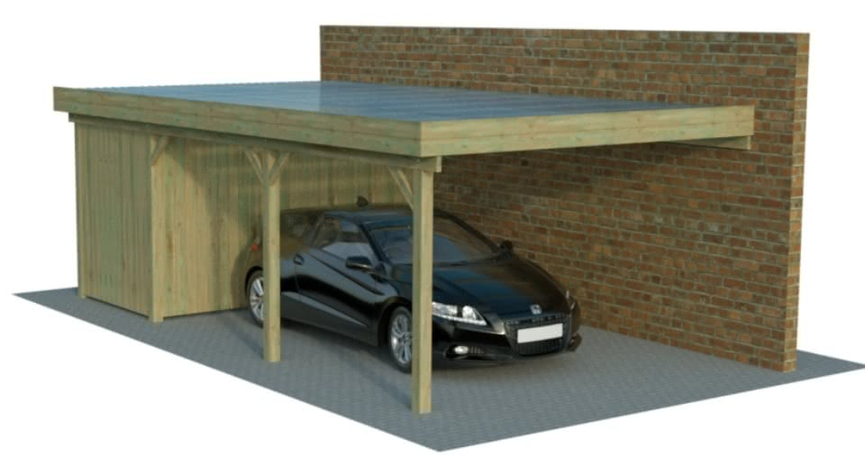 carport carport g nstig im konfigurator mit. Black Bedroom Furniture Sets. Home Design Ideas