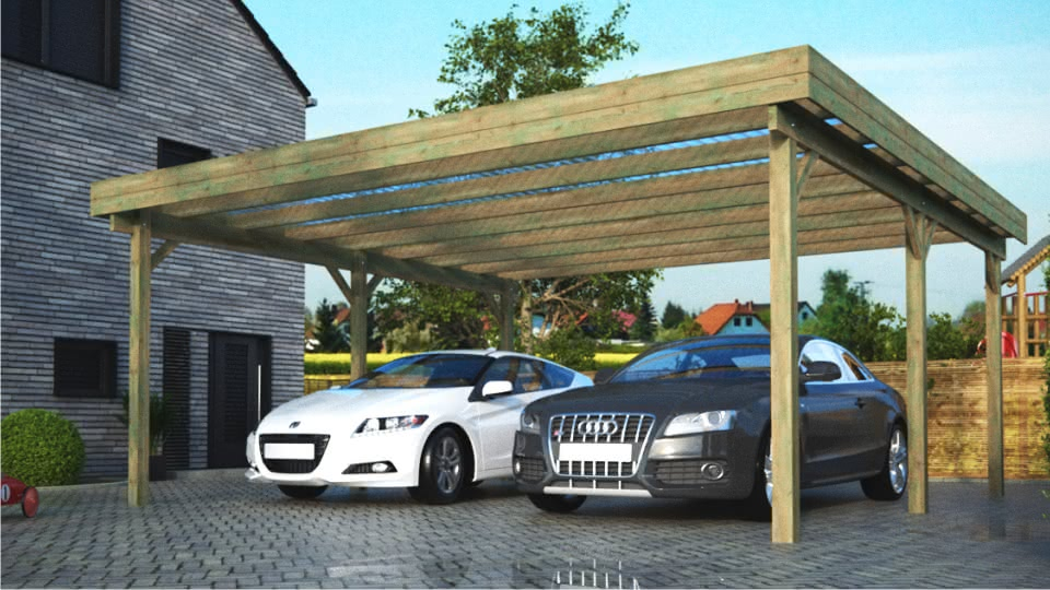 carports aus holz infos zu holzcarports. Black Bedroom Furniture Sets. Home Design Ideas
