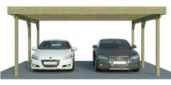 Doppelcarport mit Abstellraum/Geräteraum