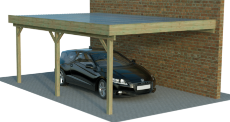 einzelcarports als anbau anlehncarports. Black Bedroom Furniture Sets. Home Design Ideas