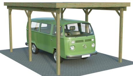 Caravan einzelcarports xl von carport for Carport 4x6m
