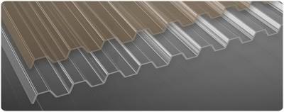 Lichttrapez-Dachplatten aus PVC für Carports